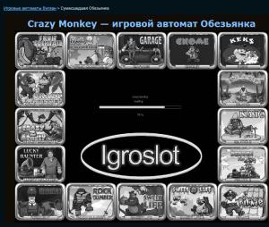 Начало игры crazy monkey