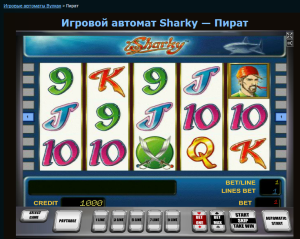Sharky начало игры